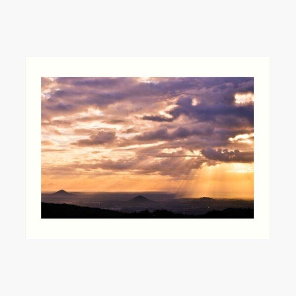 glass house mountains, queensland, australia Art Print