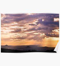 glass house mountains, queensland, australia Poster