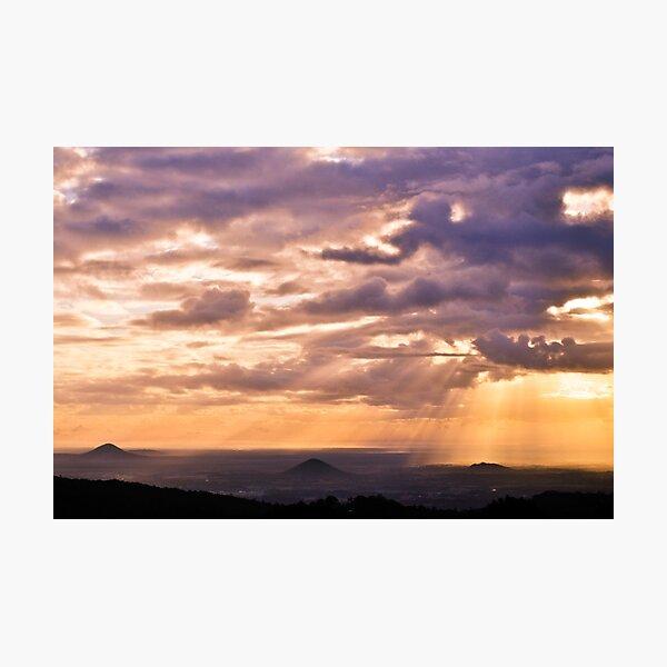 glass house mountains, queensland, australia Photographic Print