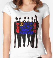 ♥♫I Love B2ST Forever♪♥ Women's Fitted Scoop T-Shirt