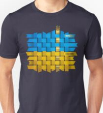 Ukrainian flag made of ribbons T-Shirt