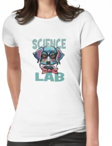 Science Lab Dog Womens Fitted T-Shirt
