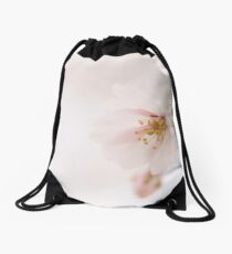 Pink high key flower image with copy space. Drawstring Bag