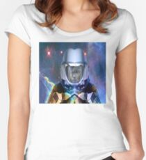 Alone  in Space Women's Fitted Scoop T-Shirt