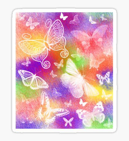 Beautiful Butterflies by Julie Everhart Sticker