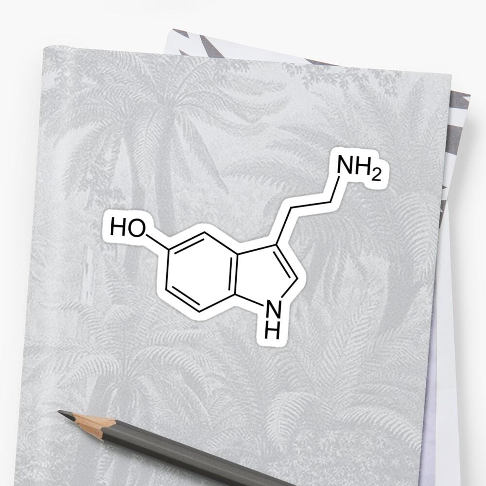 Serotonina Pegatina