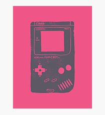 Game Boy neon pink Photographic Print
