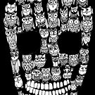Owl skull (black) by Jenny Wood