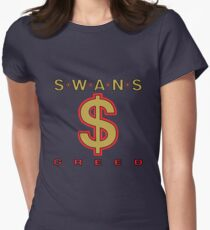 Swans - Greed  Womens Fitted T-Shirt