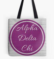 Alpha Delta Chi Purple Circle Tote Bag