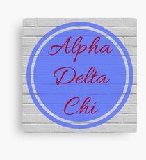 Alpha Delta Chi Flame & Blue Circle Canvas Print