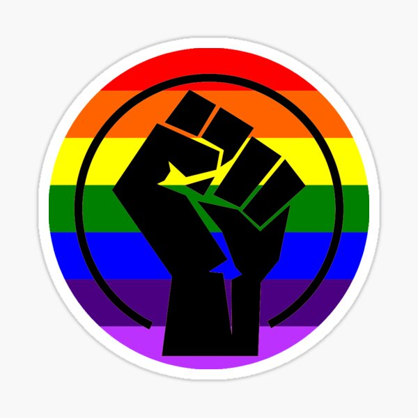 """Resistance Fist """"LGBTQIA+ Black Lives Matter"""" Sticker"""