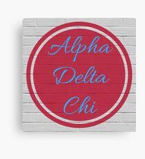 Alpha Delta Chi Circle Flame & Blue Canvas Print