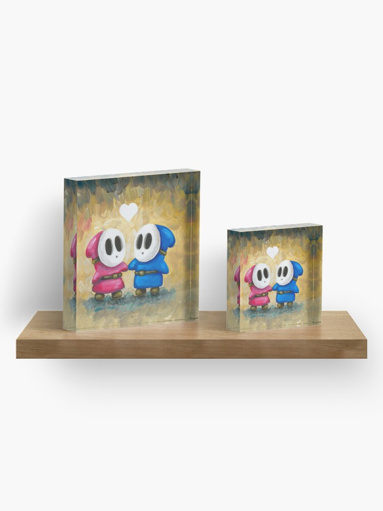 Alternate view of Shy Guys in Love! Acrylic Block