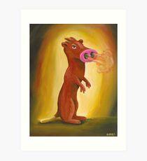 Spice Weasel Art Print