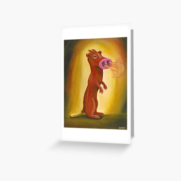Spice Weasel Greeting Card