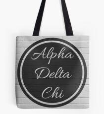 Alpha Delta Chi Circle Black & White Tote Bag