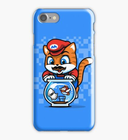 It's A ME-OW, Mario! iPhone Case/Skin