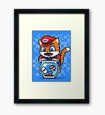 It's A ME-OW, Mario! Framed Print