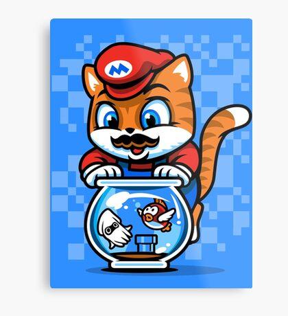 It's A ME-OW, Mario! Metal Print