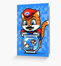 It's A ME-OW, Mario! Greeting Card