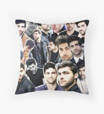 matthew daddario collage Throw Pillow