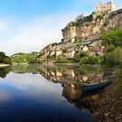 Dordogne river with Beynac-et-Cazenac village and castle by pljvv
