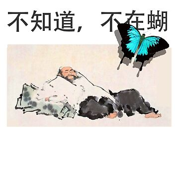 Zhuangzi: Don't Know, Don't Care (Butterfly) T-Shirt by neememes