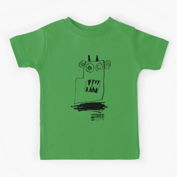 Monsters By Gusten #3 BLACK Kids T-Shirt