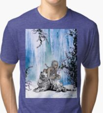 Awesome snow tiger  Tri-blend T-Shirt