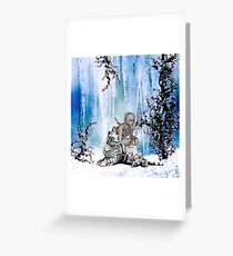 Awesome snow tiger  Greeting Card