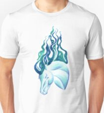 Marbled Water Horse Portrait T-Shirt