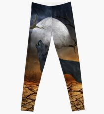 The lonely wolf Leggings