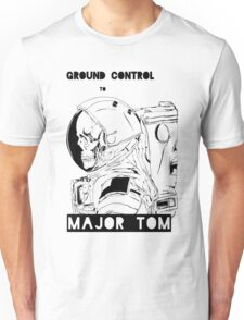 David Bowie Major Tom Astronaut Skeleton Unisex T-Shirt