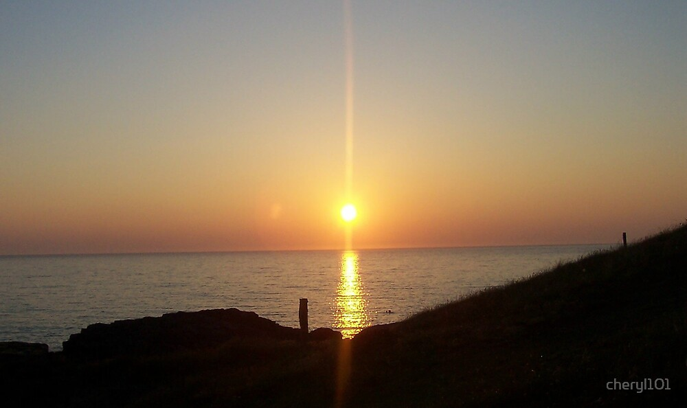 sunset in the outer hebrides by cheryl101