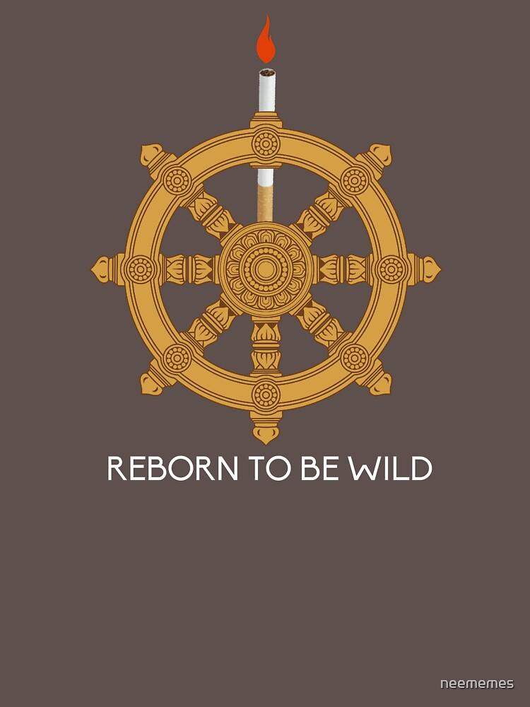 Reborn to be Wild Dharma Wheel by neememes