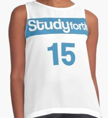 Study Forth White Basketball Jersey Contrast Tank
