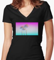 California Luuuv Women's Fitted V-Neck T-Shirt