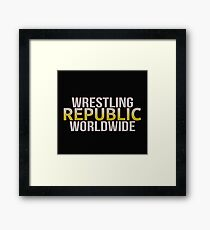 WRESTLING REPUBLIC Framed Print
