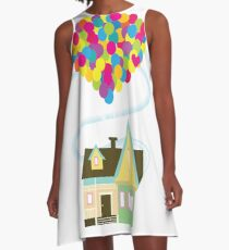 Up, Up, and Away A-Line Dress