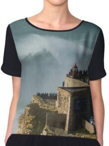 XXL waves at Nazare Portugal Chiffon Top