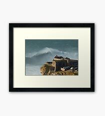 XXL waves at Nazare Portugal Framed Print