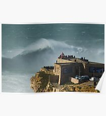 XXL waves at Nazare Portugal Poster