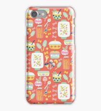 Vintage pasta maker pattern iPhone Case/Skin