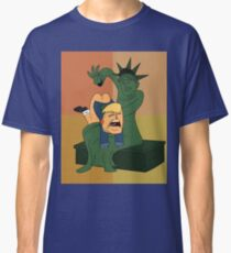 Toddler Trump Getting Spanked by the Statue of Liberty Classic T-Shirt