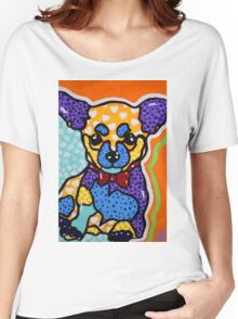 Izzy Chihuahua Dog Puppy Fun Design Women's Relaxed Fit T-Shirt