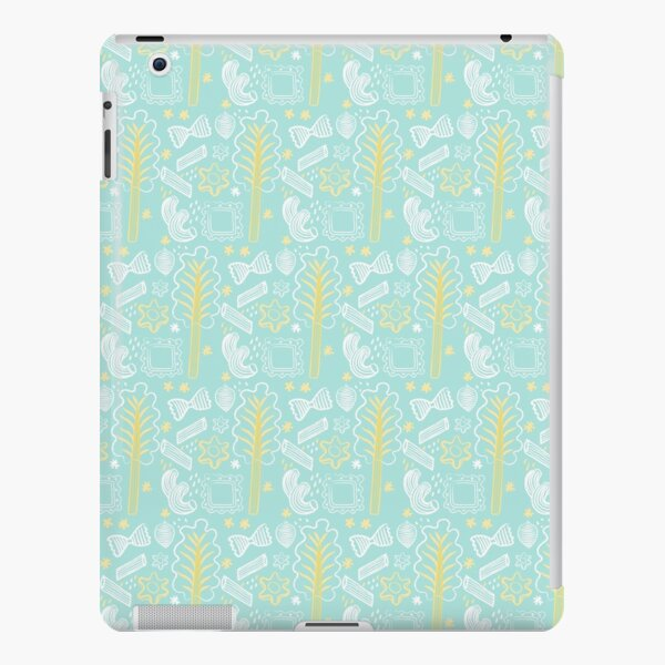 Blue Pasta Pattern iPad Snap Case
