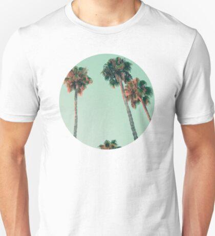 Palmen bei Sonnenuntergang T-Shirt