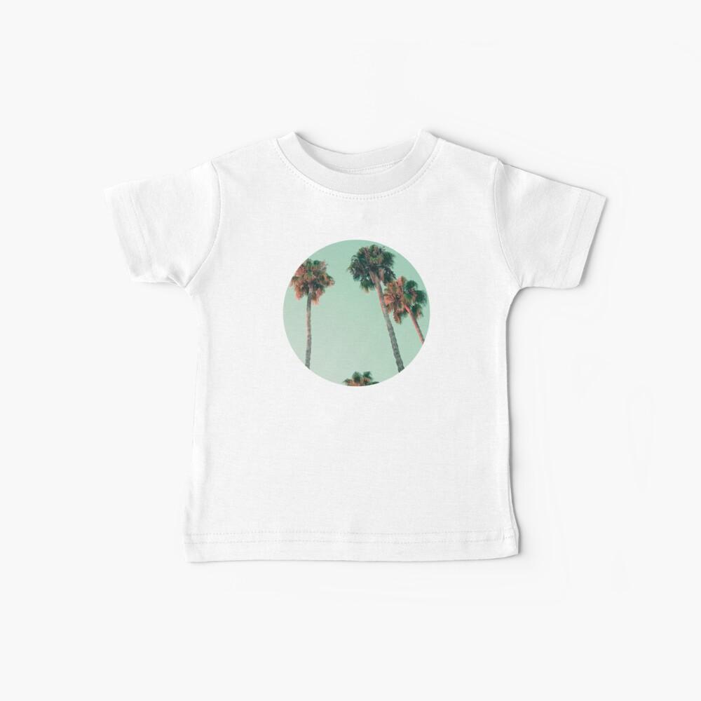 Palmen bei Sonnenuntergang Baby T-Shirt