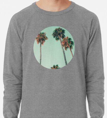 Palmen bei Sonnenuntergang Leichter Pullover
